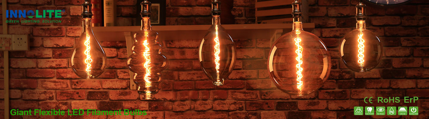 Giant Flexible LED Filament Bulbs