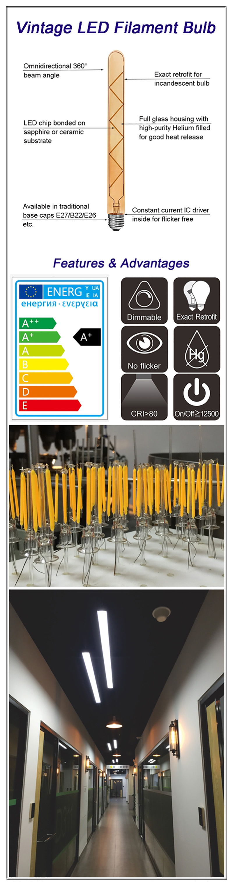 China LED tubular bulbs supplier
