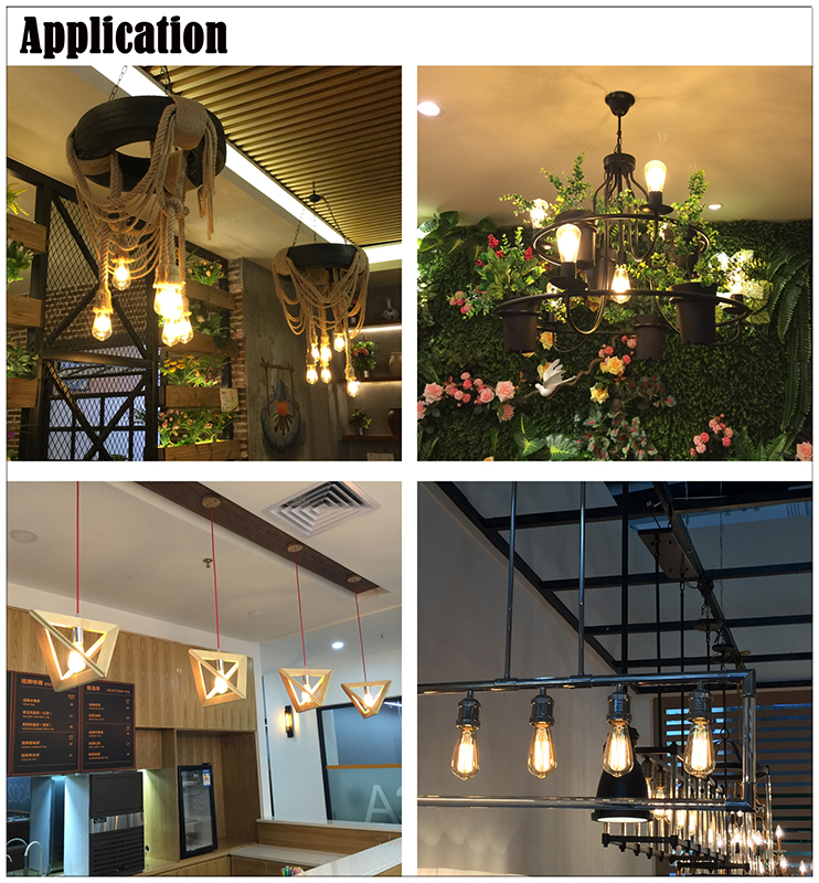 Vintage LED filament bulbs application for shop, restaurant and cafes, etc.
