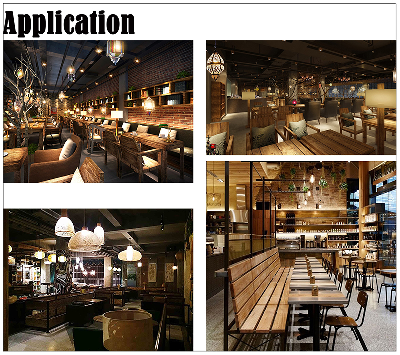 Spiral filament LED globe bulbs application: living room,dinning room, bars