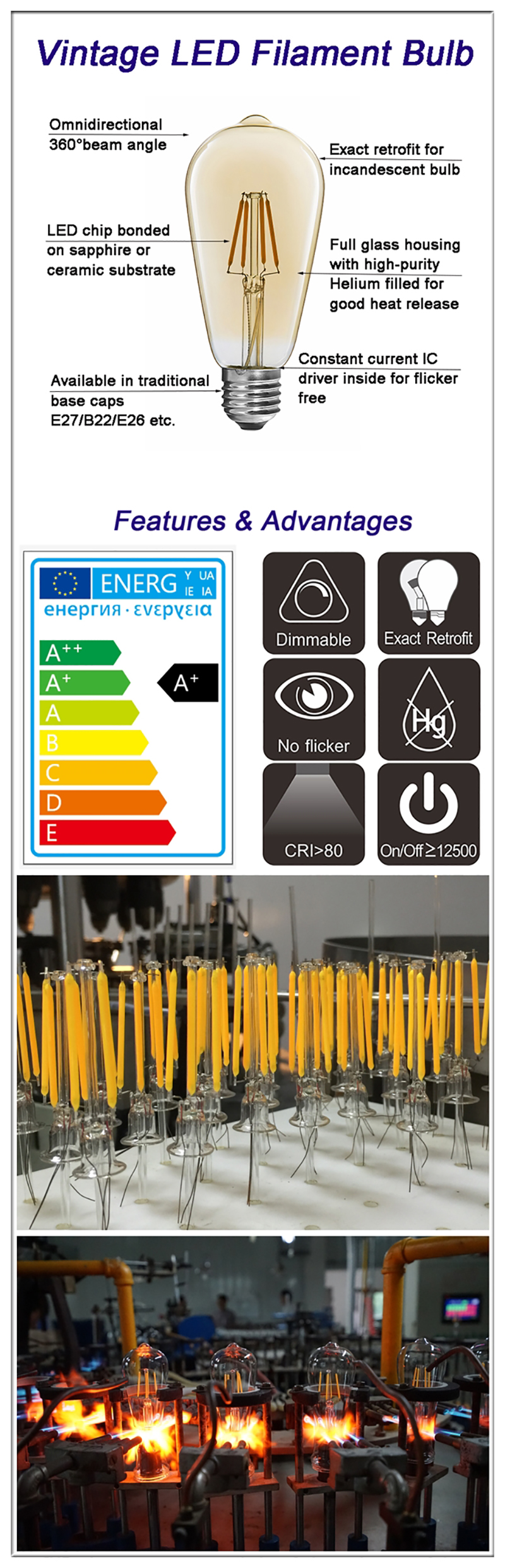 China LED Classic Edison bulb Manufacturer
