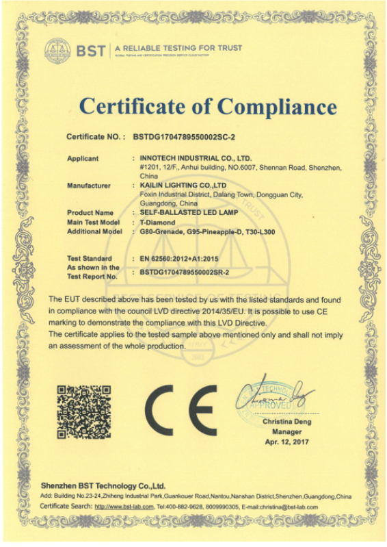 China Vintage LED Filament bulbs factory with LVD test report