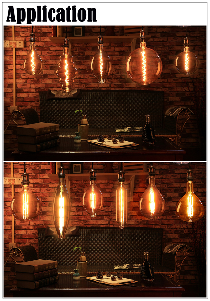 Chinese giant LED filament bulbs application