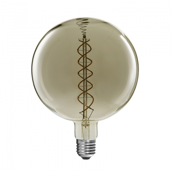 Dimmable G300 curved double spiral LED filament bulb
