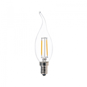 Tail candle CA32 2W LED filament lamps