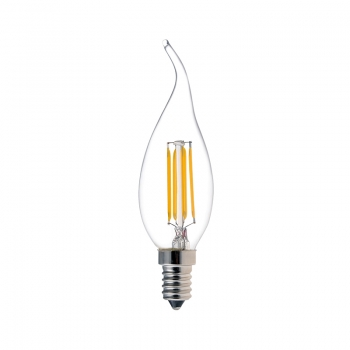 Tailed Candle CA35 LED Filament Lamps 4W