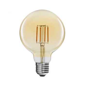 Vintage globe LED light 125mm 4W