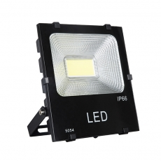 China 100W Aluminum COB Black LED Floodlight BK Style with 120 degree beam angle factory