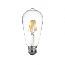 China 75W Incandescent Equivalent ST64 Style LED Filament Bulb factory