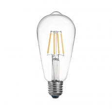 Classic ST64 LED filament bulbs 6.5W