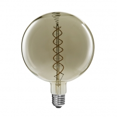 China Dimmable G300 curved double spiral LED filament bulb factory