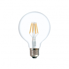 Dimmable LED G125 Filament Light Bulb 4W