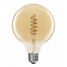 Flexible LED Globe Filament bulbs G125 4W