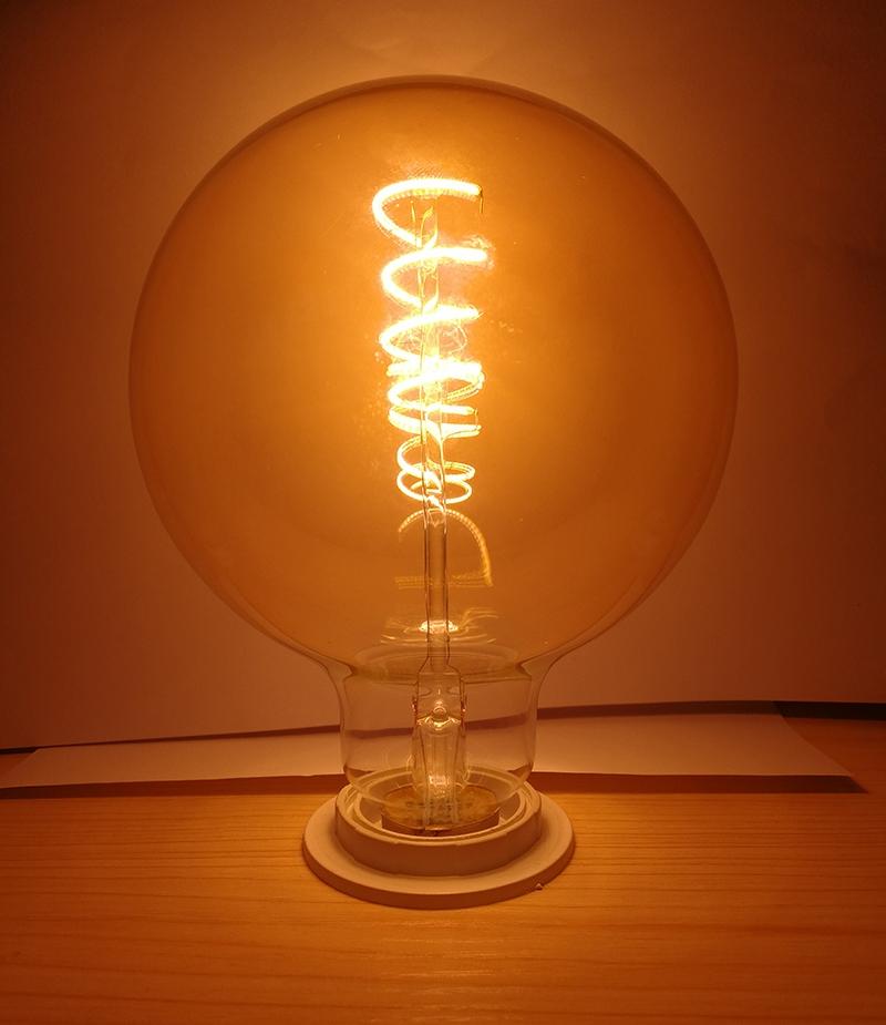China Flexible Led Filament Bulbs Globe G125 Dimmable