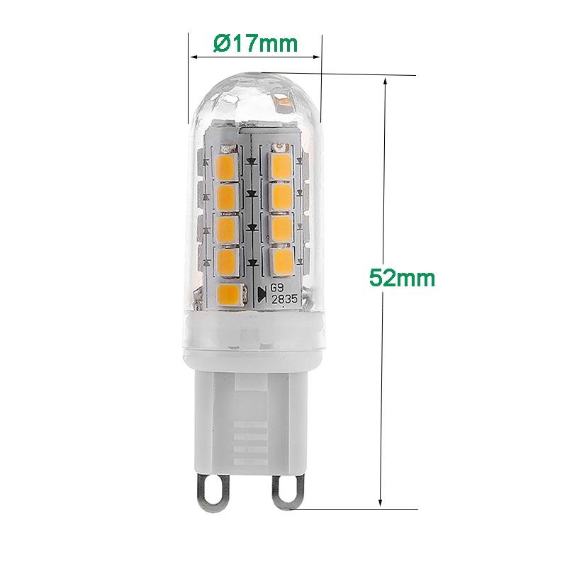ampoules en plastique de la capsule g9 led 4w g9 dimmable en plastique clair ou givr led. Black Bedroom Furniture Sets. Home Design Ideas