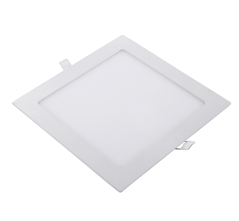 Slim Square Recessed LED Panel Downlights, Dimmable Flat