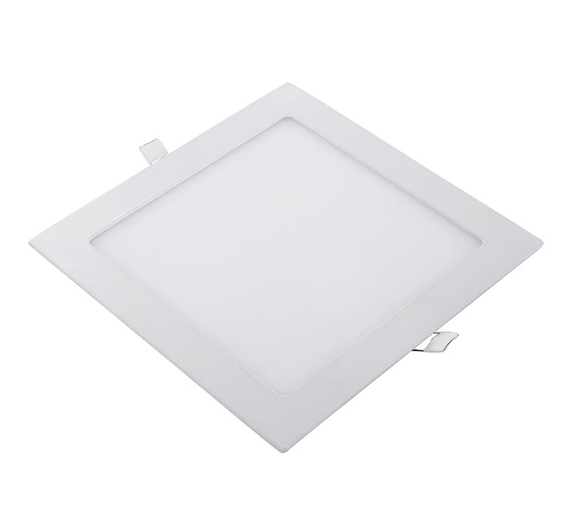 Slank vierkante LED-inbouwspotdownlights, dimbare platte LED ...